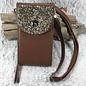 Brown AB Rhinestone Wallet Travel Crossbody Bag