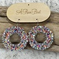 AB Round Multi Color Stone Earrings
