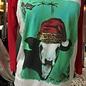 Mooey Christmas Cow Raglan Top