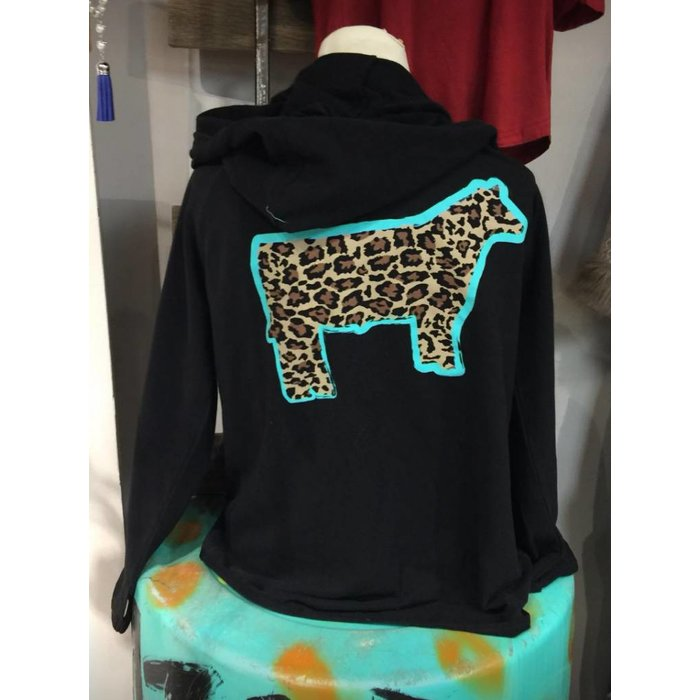 Leopard Steer Zip-Up Jacket