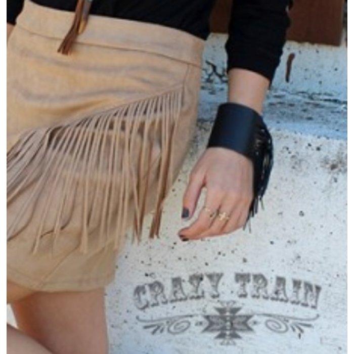 Black Cattilac Fringe Cuff Bracelet