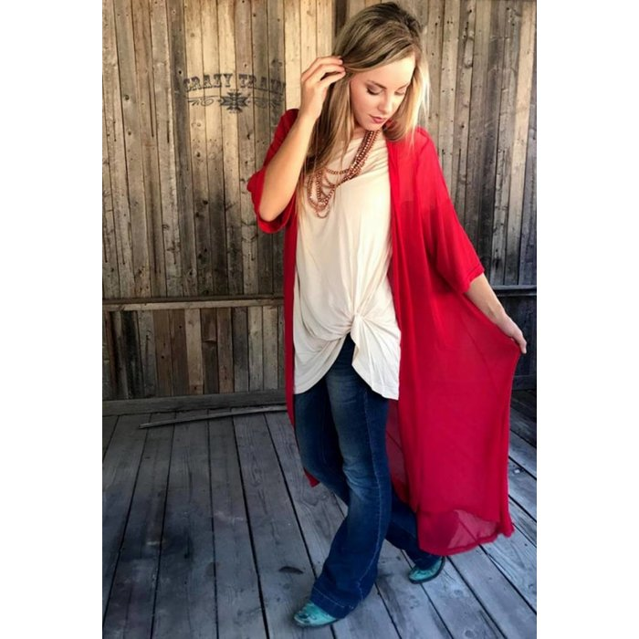 Red Rodeo Duster - ONE SIZE