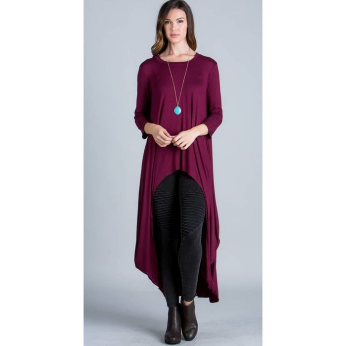 Wine High Low Maxi Top