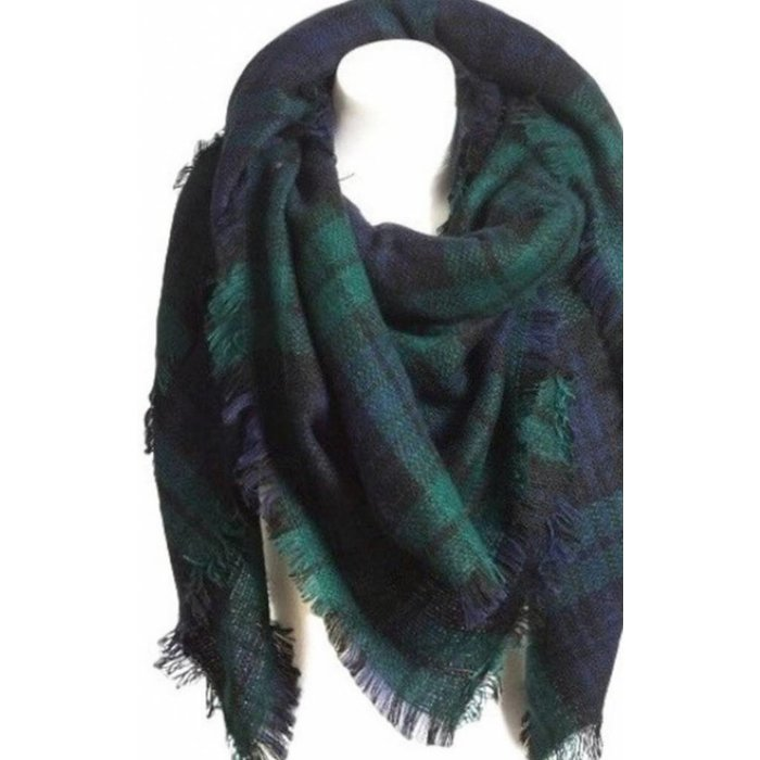 Large Plaid  Scarf