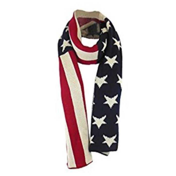 American Flag Sweater Scarf