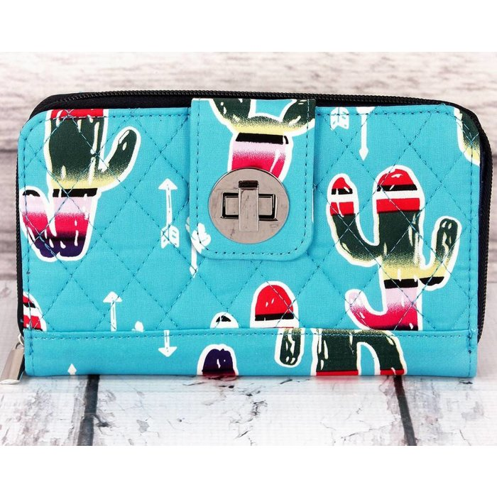 Serape Cactus Quilted Wallet