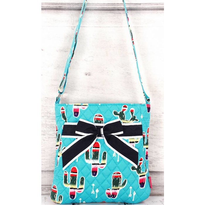 Serape Cactus Quilted Cross Body Bag