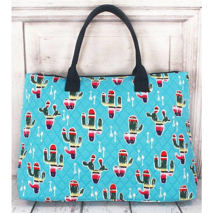Serape Cactus Tote Bag