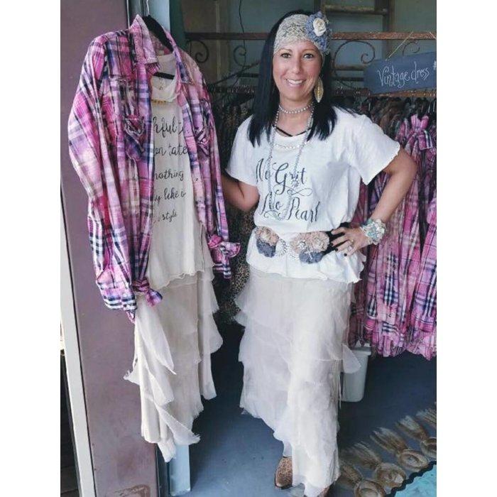 Ruffle Chiffon Handmade Skirt