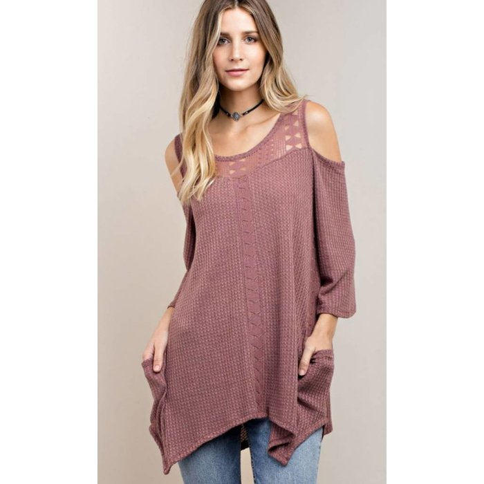 Dusty Rose  Thermal Tunic