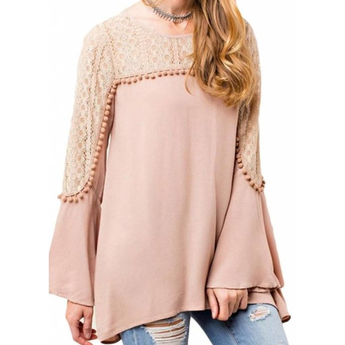 Romantic Lace Pom Pom Tunic