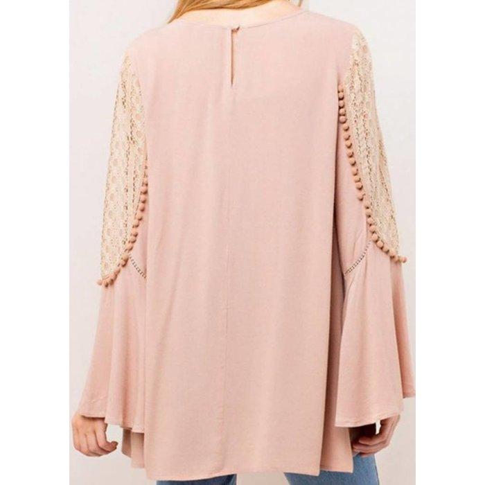 Romantic Lace Pom Pom Tunic