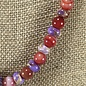 Red & Purple Beaded Necklace Set - Custom