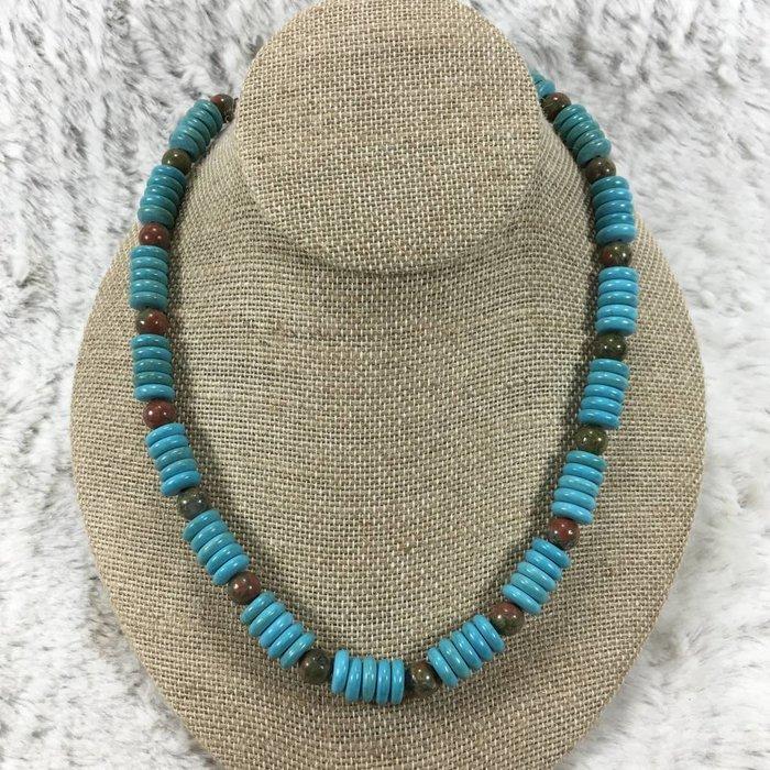 Turquoise Beaded Necklace Set - CUSTOM