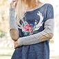 Long Sleeve Deer Antler Sweater