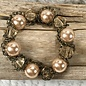 Antique Chain Pearl Bracelet