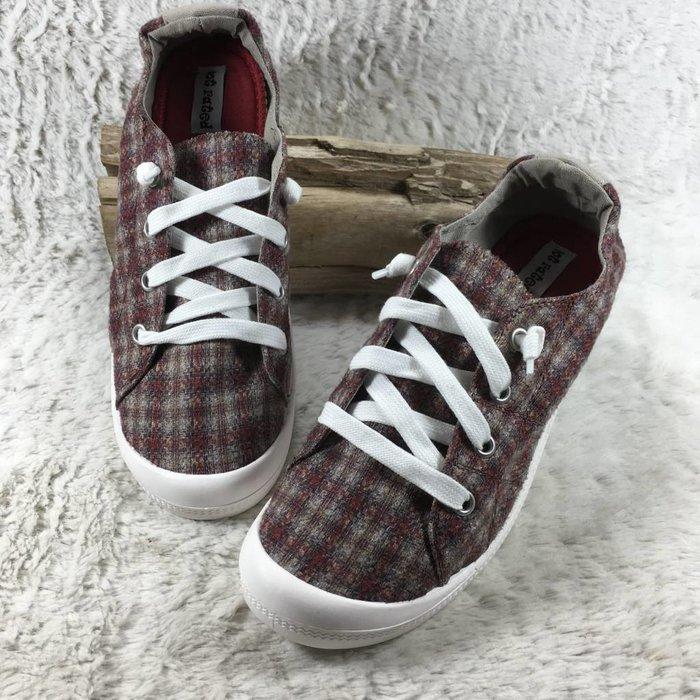 School's Out Rust Plaid Tennis Shoe