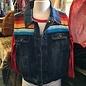Serape Jean Vest #7 - LARGE
