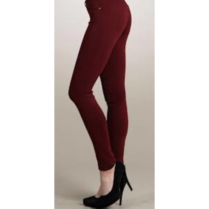 Wine Jeggings - MISSES ONE SIZE