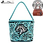 Turquoise Horse Embroidered Purse