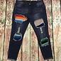 Serape Patch Skinny Jeans - SZ 18