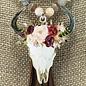 Natural Flower Bull Skull Tassel Necklace