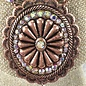 AB Copper Beaded Concho Bling Necklace Set