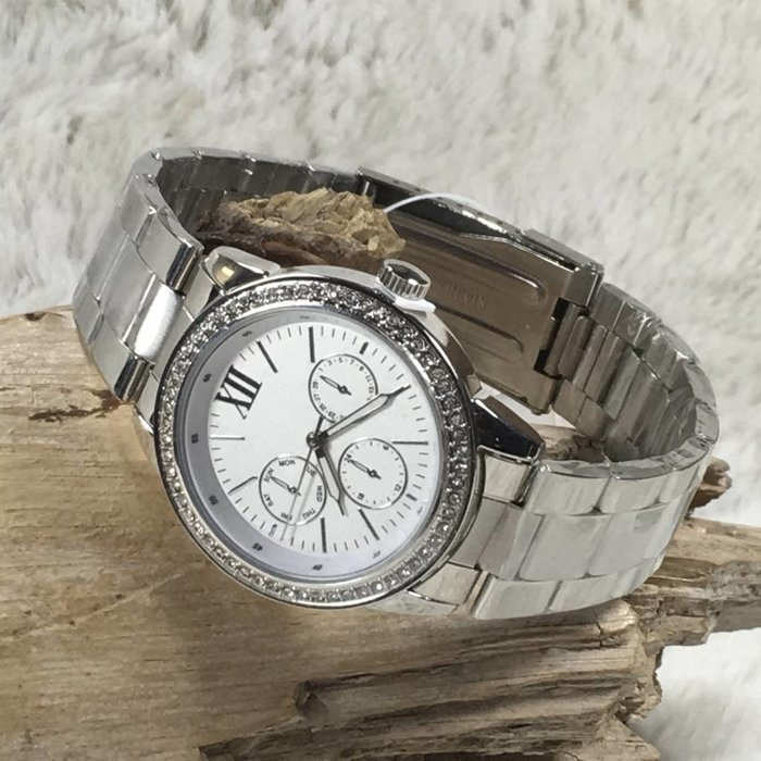 Silver Alloy Fashion Watch