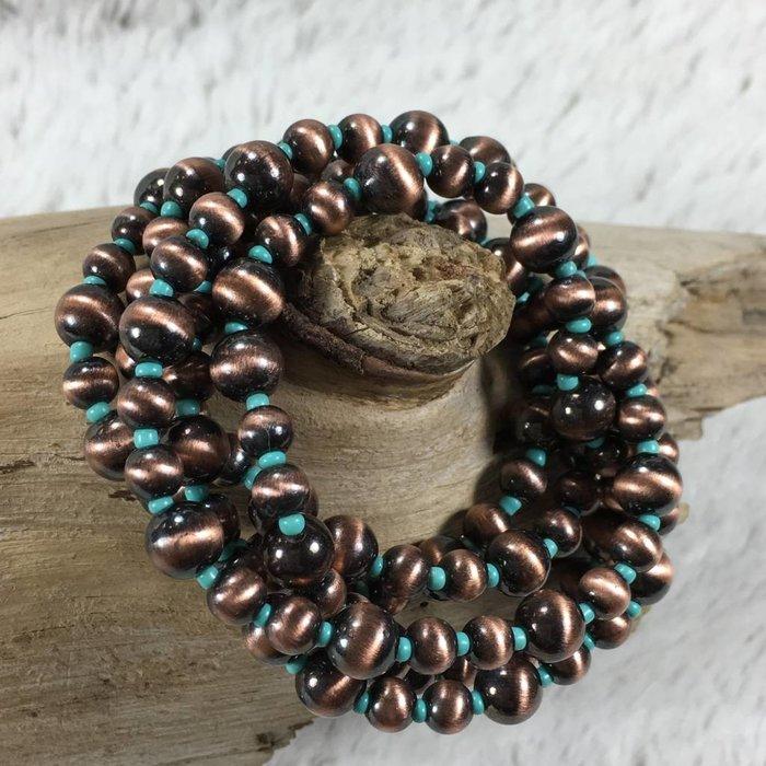 Navajo Copper Pearl 5-Strand Bracelet