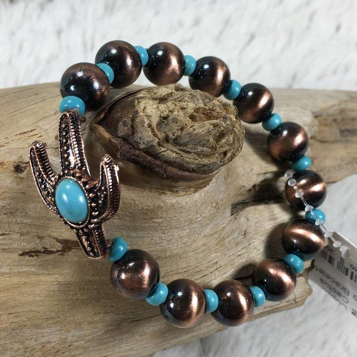 Copper Cactus Navajo Bracelet
