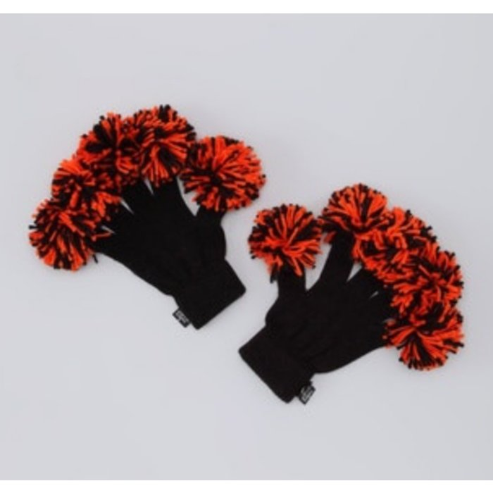 Black & Orange Spirit Finger Gloves