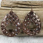 Copper Bali Style Teardrop AB Earrings