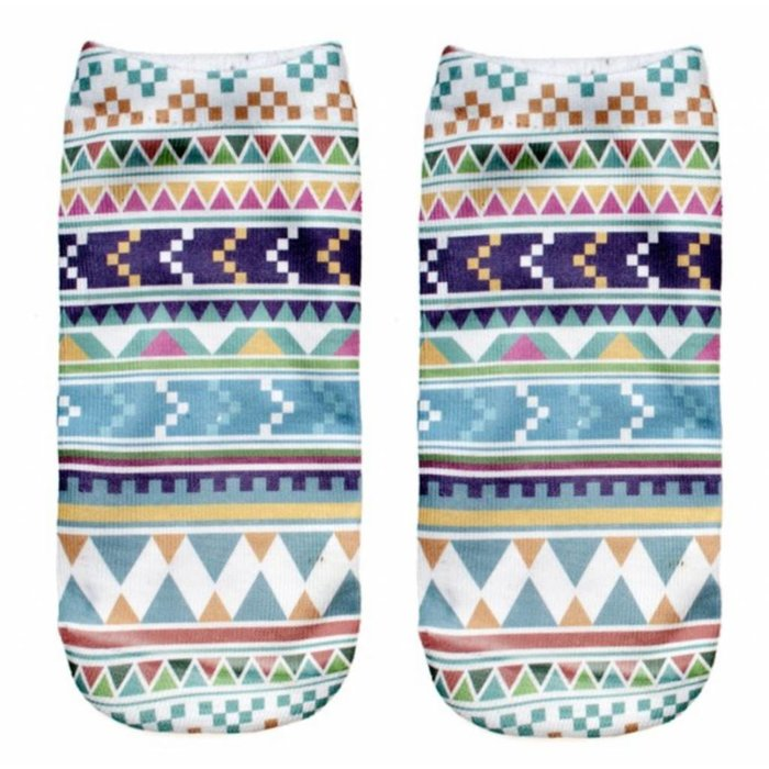 Aztec Ankle Crazy Socks