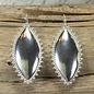Silver on Silver Rim Earrings