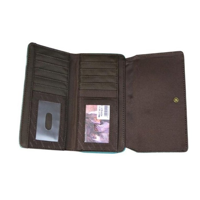 Brown Montana West Embroidered Collection Secretary Style Wallet
