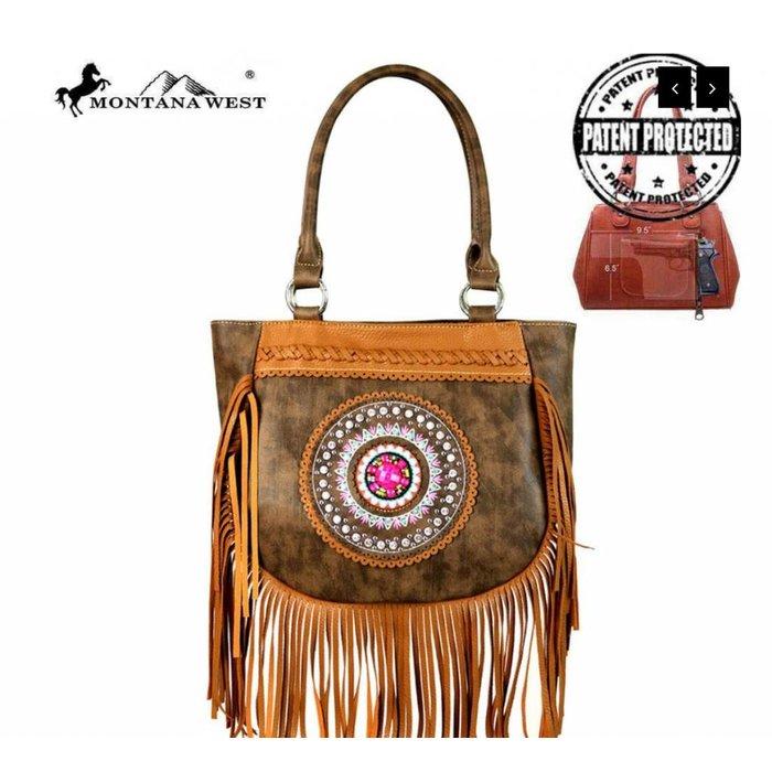 Boho Medallion Concealed Handgun Bag - Coffee