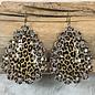 Leopard Teardrop AB Stone Earrings