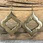 Open Solid Damask Earrings - MATTE GOLD