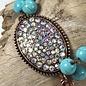 AB Oval Turquoise with Tassel Bracelet