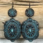 Double Patina Concho Earrings