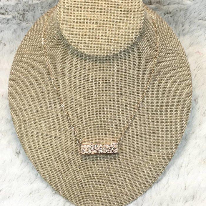 Rose Gold Bar Choker Necklace