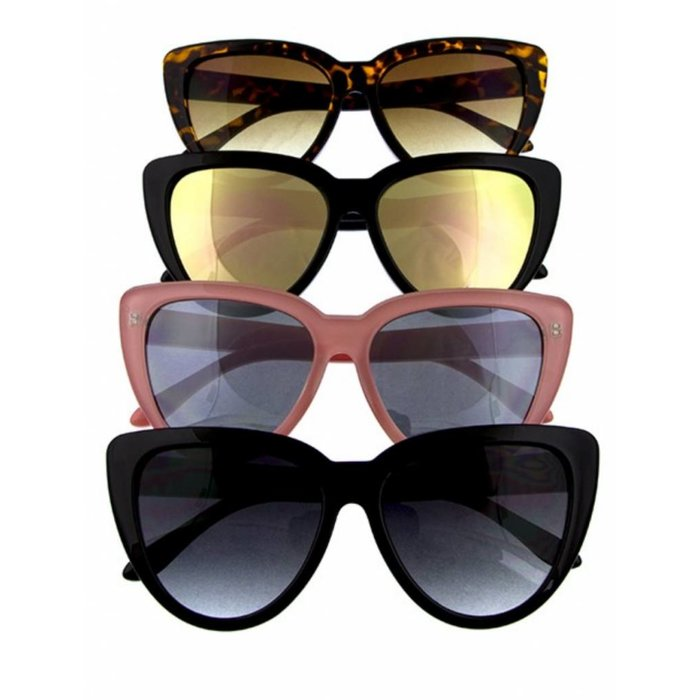 Retro Vintage Large Chic Cat Eye Sunglasses