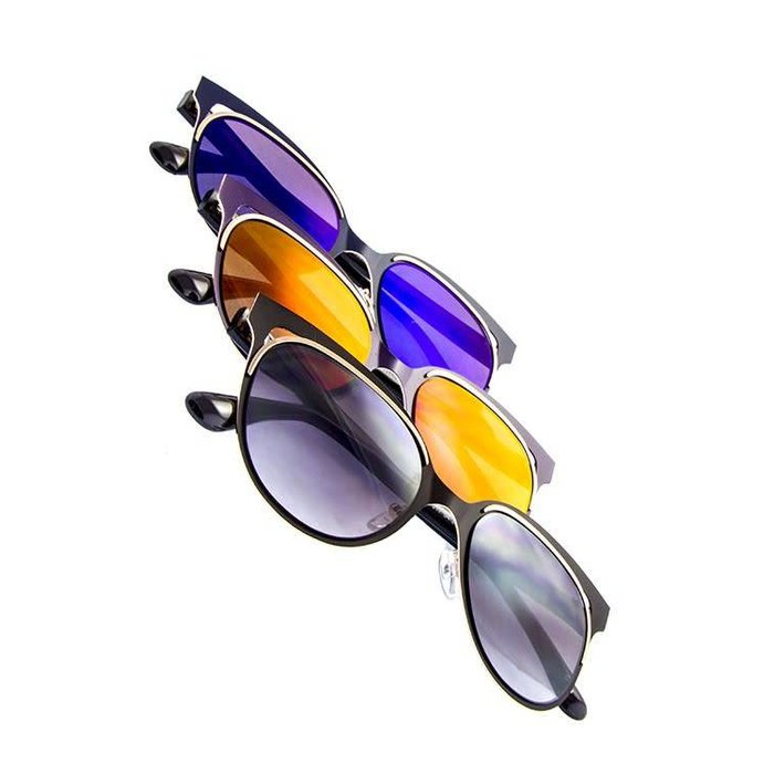 All Metal Cut Out Sunglasses