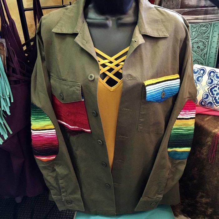 Small Serape Cross Army Jacket - #2