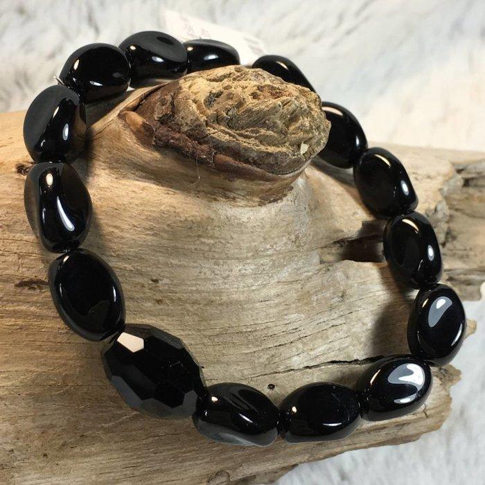 Black Melon Stone Bracelet