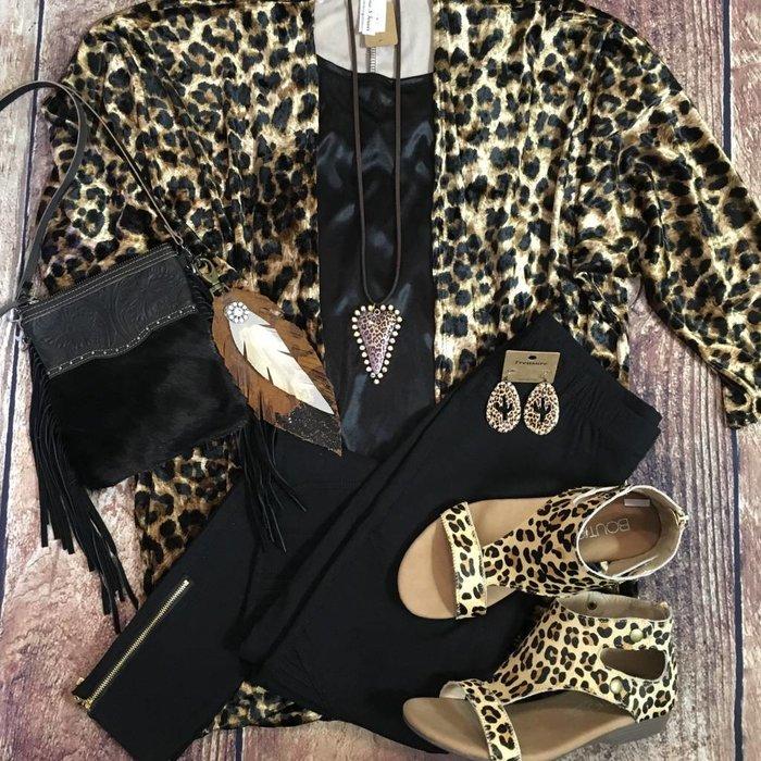 Leopard Velvet Kimono