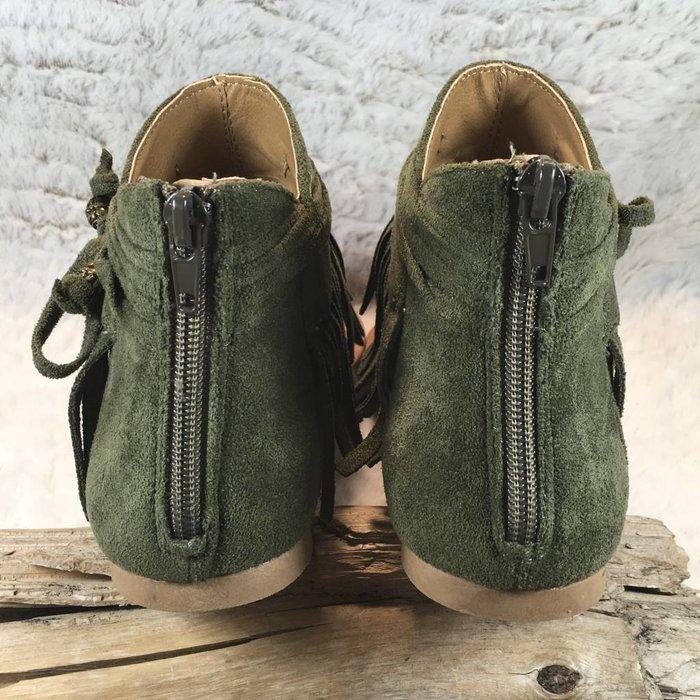 Chia Khaki Fringe Sandals