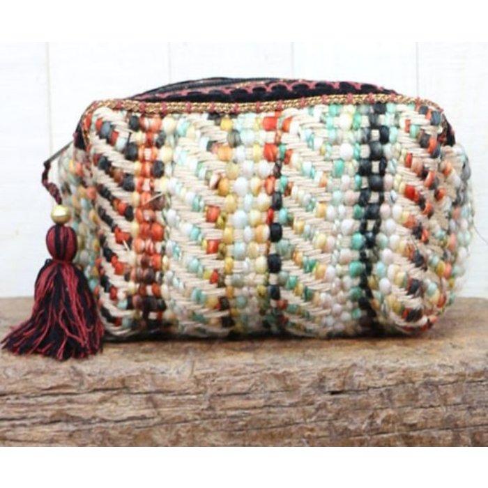 Carpet Weaved Origami Makeup Bag