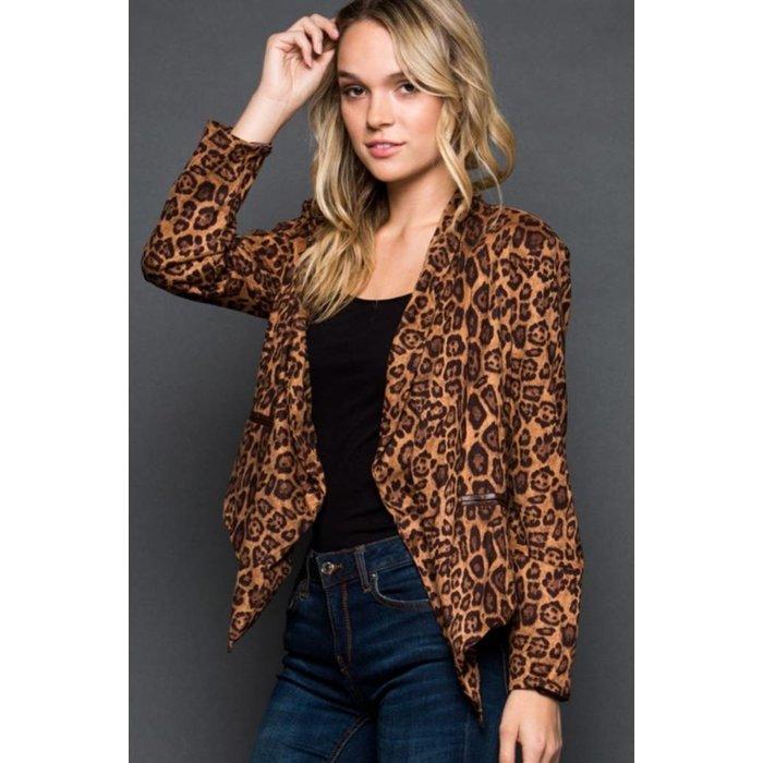 Suede Leopard Jacket