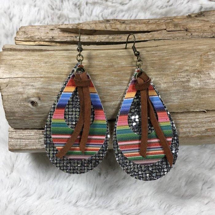Serape Disco Fringe Custom Earrings